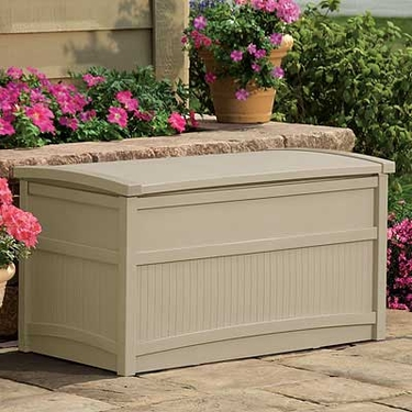 Suncast White Deck Box - 50 Gallon