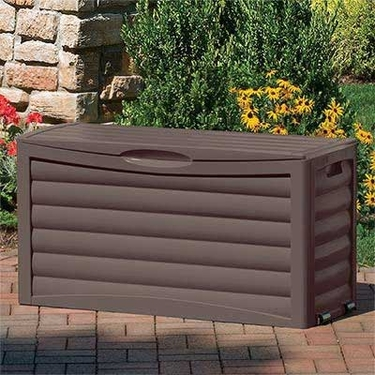 Suncast 63 Gallon Deck Box - Brown