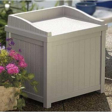 Suncast Premium 22 Gallon Deck Box with Seat