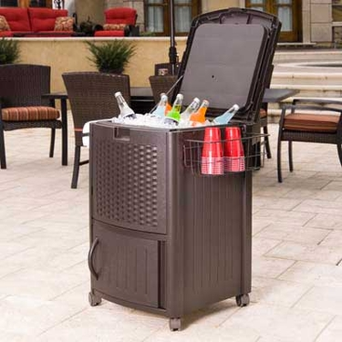 Suncast Resin Wicker Cooler