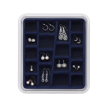 18 Compartment Midnight Blue Jewelry Stax by Neatnix