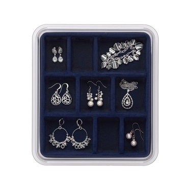 9 Compartment Midnight Blue Jewelry Stax by Neatnix