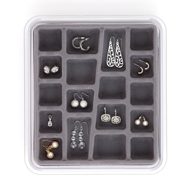 18 Compartment Grey Jewelry Stax by Neatnix