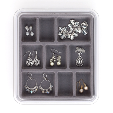 9 Compartment Grey Jewelry Stax by Neatnix