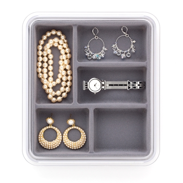5 Compartment Grey Jewelry Stax by Neatnix