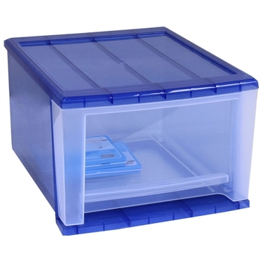 Medium Stacking Drawer in Navy by Iris