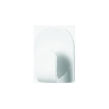 White Jumbo Euro Adhesive Hook by Spectrum