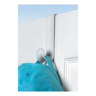 White Over the Door Single Hook by Spectrum