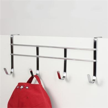 Chrome Over Door 4 Hook Rack by Spectrum
