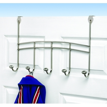Chrome Duchess Over The Door 5 Hook Rack by Spectrum