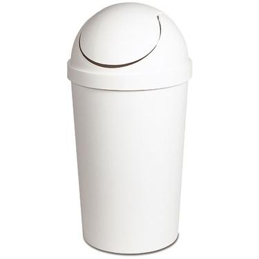 Sterilite White Swing Top Trash Can