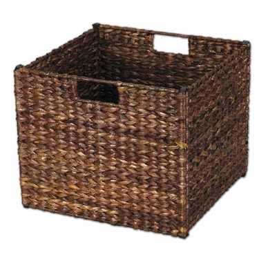 Brown Banana Leaf Storage Bin by Household Essentials