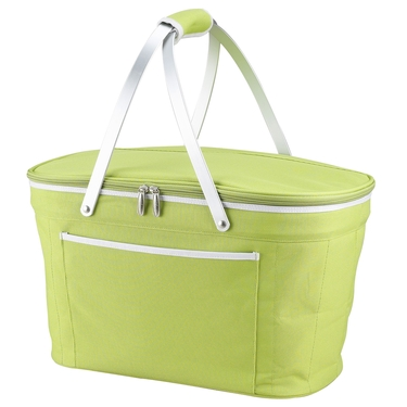 Apple Green Collapsible Insulated Basket by Picnic At Ascot
