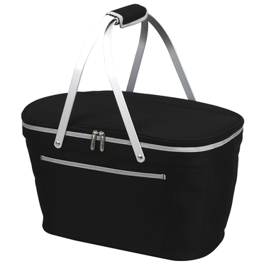 Black Collapsible Insulated Basket by Picnic At Ascot