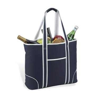 Large Navy Insulated Cooler Tote by Picnic at Ascot