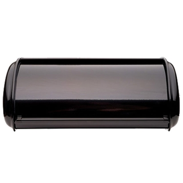 Deluxe Solid Black Bread Box by Polder
