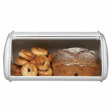 Deluxe Solid White Bread Box by Polder