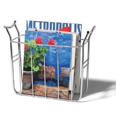 Euro Magazine Rack in Chrome by Spectrum