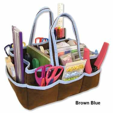 Brown & Blue Fabric Storage Caddy by Trend Lab