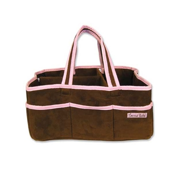 Brown & Pink Fabric Storage Caddy by Trend Lab