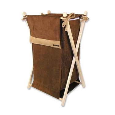 Brown & Caramel Suede Hamper Set by Trend Lab