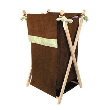 Brown & Sage Suede Hamper Set by Trend Lab