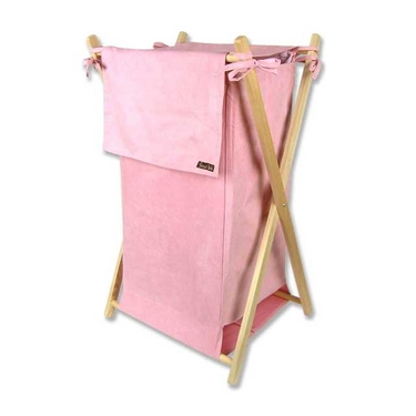 Pink Suede Hamper Set by Trend Lab