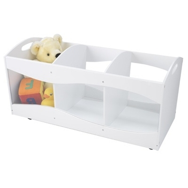White Rolling See Thru Storage Bins by KidKraft