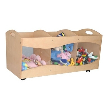 Natural Rolling See Thru Storage Bins by KidKraft