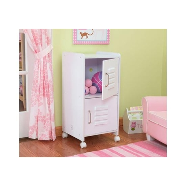 Kids Medium White Locker Shelf Unit by KidKraft