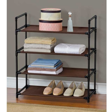 Espresso & Black 4 Shelf Organizer by Lynk