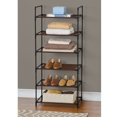 Espresso & Black 6 Shelf Organizer by Lynk
