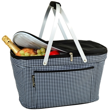 Collapsible Insulated Basket- Houndstooth Collection by Picnic At Ascot