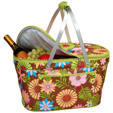 Collapsible Insulated Basket- Floral Collection by Picnic At Ascot