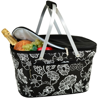Collapsible Insulated Basket- Night Bloom Collection by Picnic At Ascot
