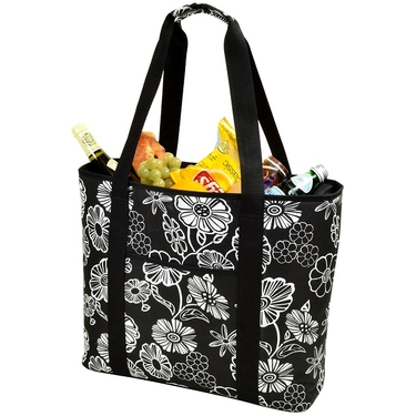 Large Cooler Tote- Night Bloom Collection  by Picnic at Ascot