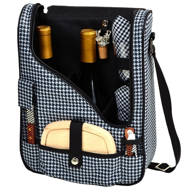 Wine & Cheese Cooler Tote- Houndstooth Collection by Picnic at Ascot