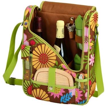Wine & Cheese Cooler Tote- Floral Collection by Picnic at Ascot
