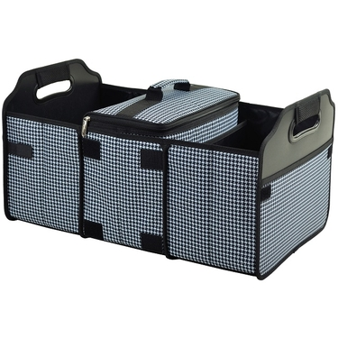 Collapsible Trunk Organizer and Cooler: Houndstooth Collection by Picnic at Ascot