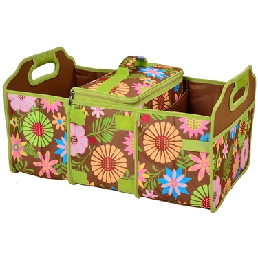 Collapsible Trunk Organizer and Cooler: Floral Collection by Picnic at Ascot