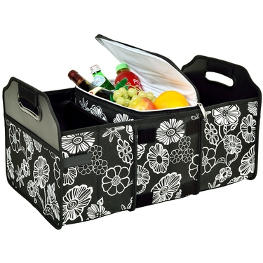 Collapsible Trunk Organizer and Cooler: Night Bloom Collection by Picnic at Ascot