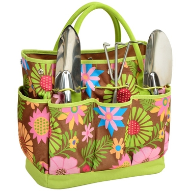 Gardening Tote & Tools: Floral Collection by Picnic at Ascot