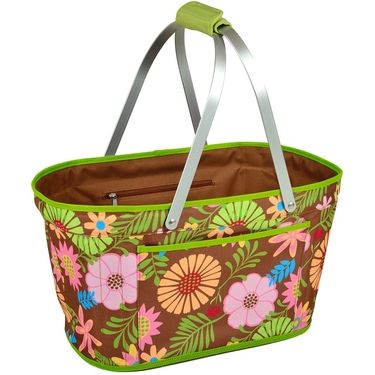 Collapsible Market Basket- Floral Collection by Picnic at Ascot