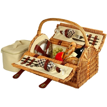 Sussex Picnic Basket for Two by Picnic at Ascot