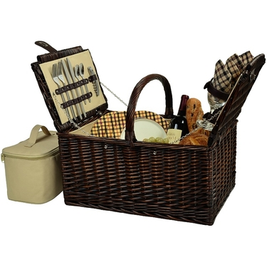 Buckingham Picnic Basket for Four by Picnic at Ascot