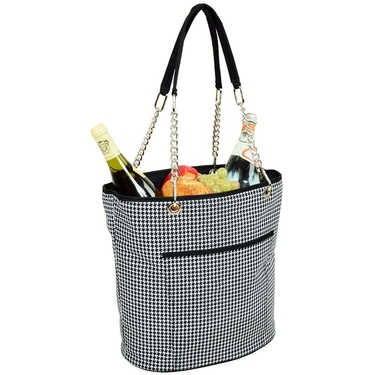 Cooler Tote- Houndstooth Collection  by Picnic at Ascot