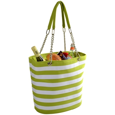 Cooler Tote- Stripe Apple Bold Collection  by Picnic at Ascot