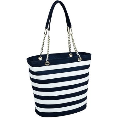 Cooler Tote- Stripe Blue Bold Collection  by Picnic at Ascot