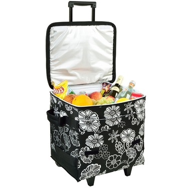 Collapsible Rolling Cooler- Night Bloom Collection by Picnic at Ascot