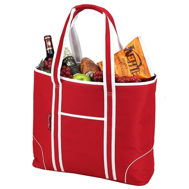 Large Red Insulated Cooler Tote by Picnic at Ascot
